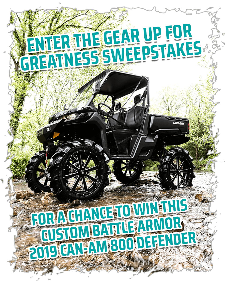 Gear Up For Greatness Sweepstakes - Battlearmordesigns com