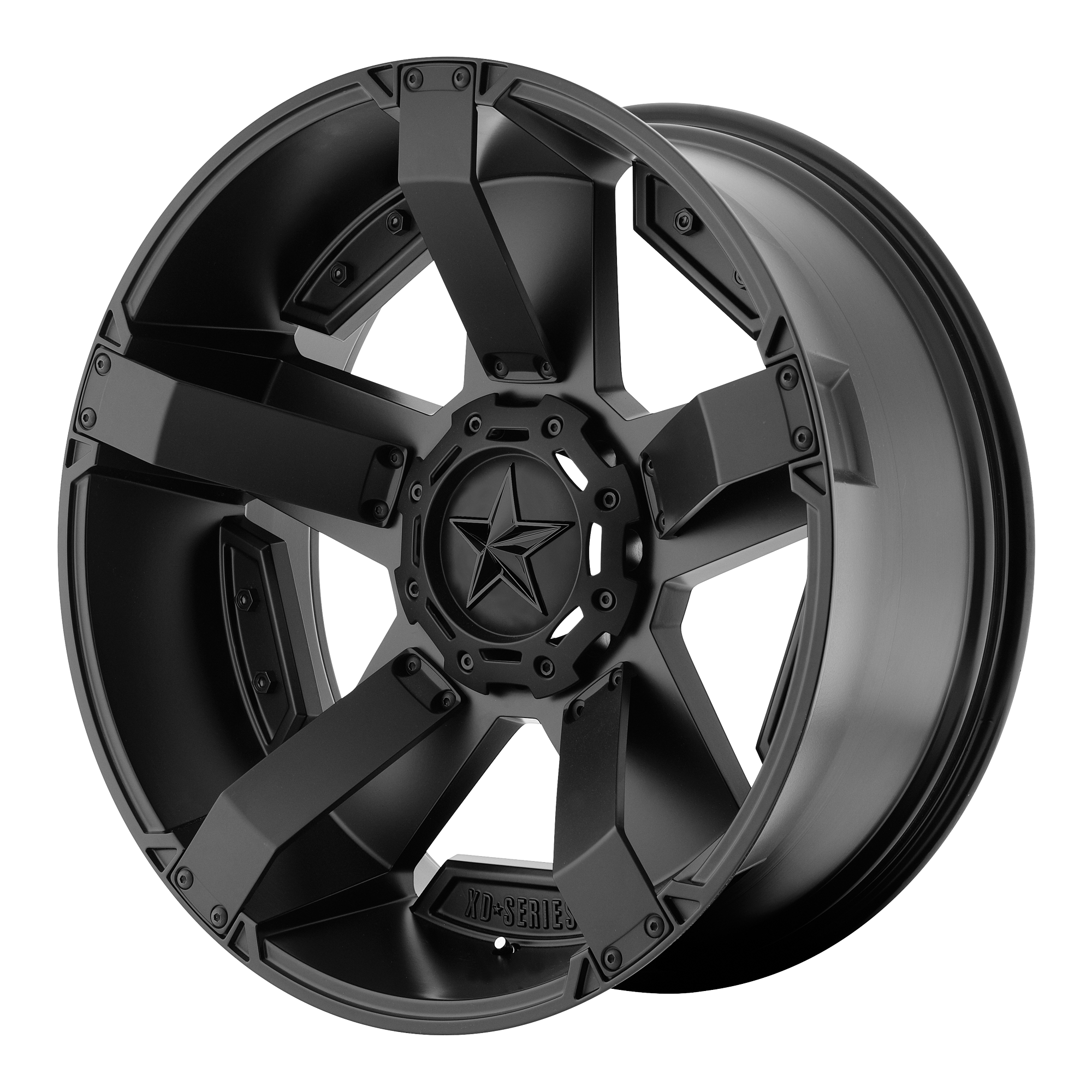 XD SERIES BY KMC WHEELS XD811 ROCKSTAR II Matte Black With Accents