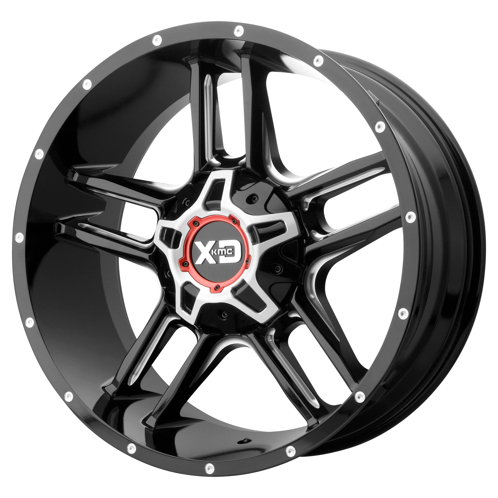 XD SERIES BY KMC WHEELS XD839 CLAMP Gloss Black Milled